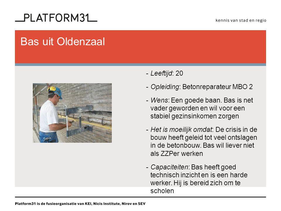 Bas uit Oldenzaal Leeftijd: 20 Opleiding: Betonreparateur MBO 2