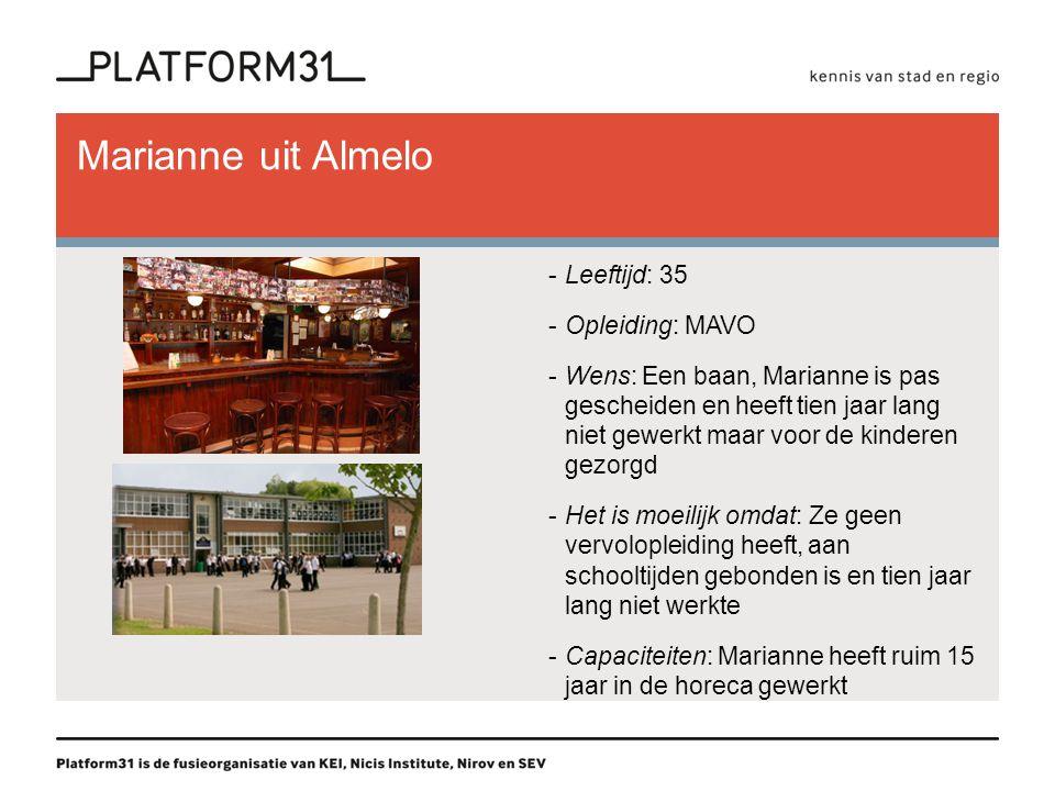 Marianne uit Almelo Leeftijd: 35 Opleiding: MAVO