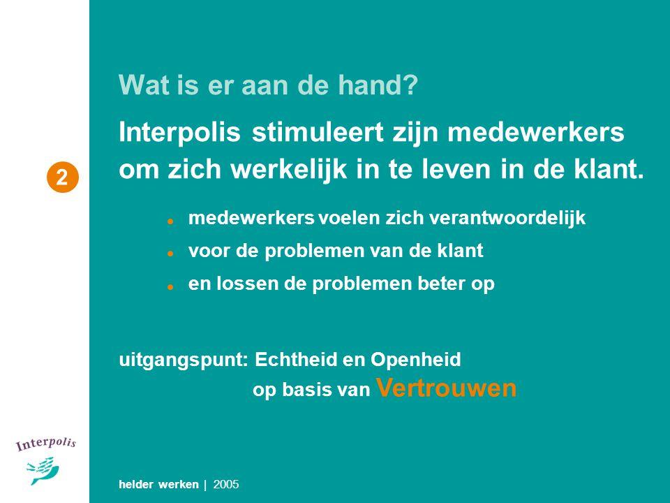 Wat is er aan de hand Interpolis stimuleert zijn medewerkers om zich werkelijk in te leven in de klant.