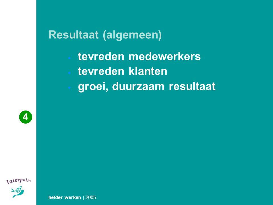 tevreden medewerkers tevreden klanten groei, duurzaam resultaat