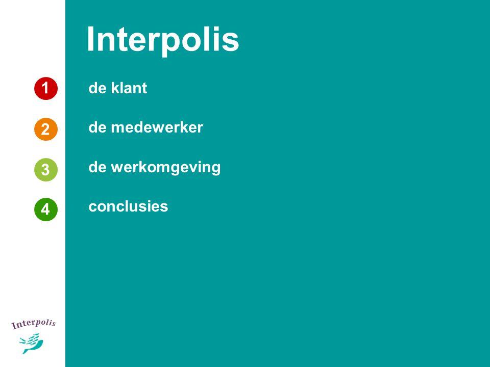 Interpolis 1 de klant de medewerker de werkomgeving conclusies 2 3 3 4