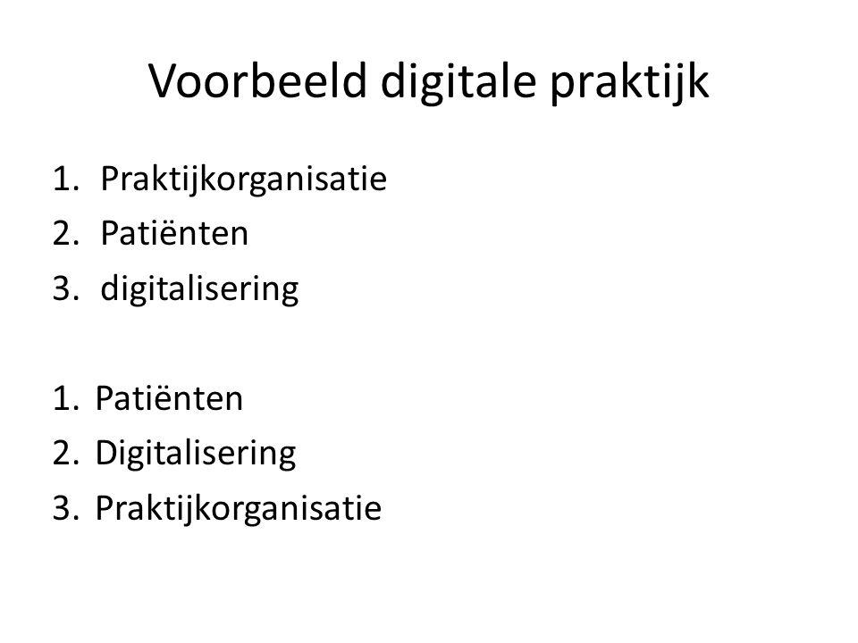 Voorbeeld digitale praktijk