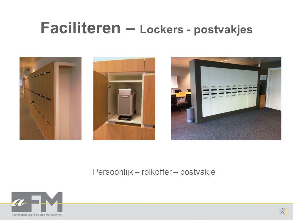 Faciliteren – Lockers - postvakjes
