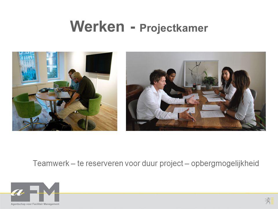 Teamwerk – te reserveren voor duur project – opbergmogelijkheid