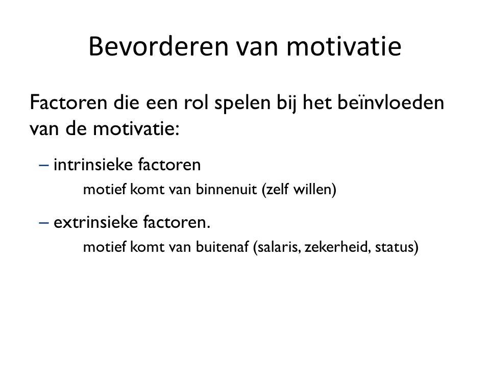 Bevorderen van motivatie