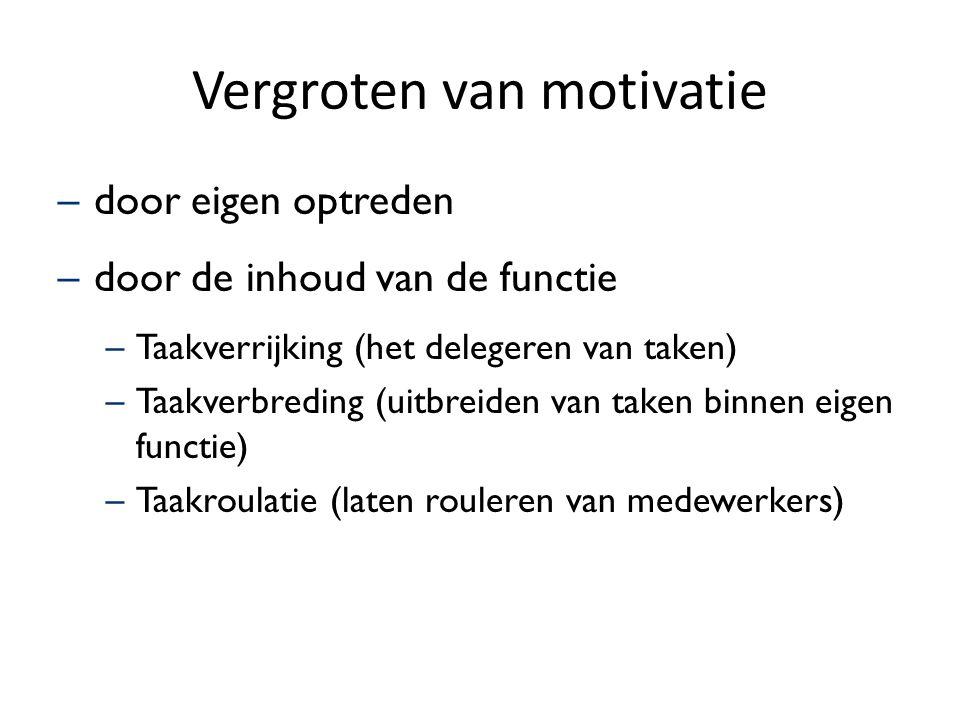 Vergroten van motivatie