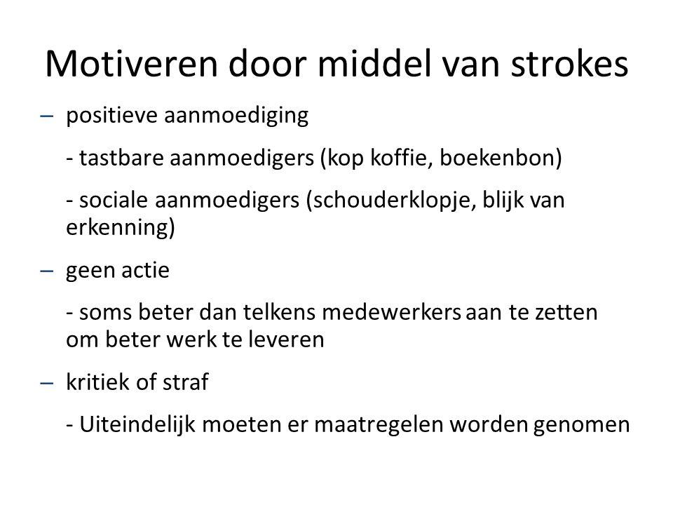 Motiveren door middel van strokes