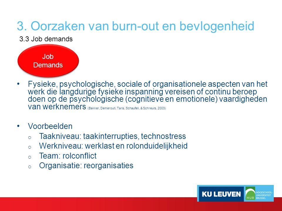 3. Oorzaken van burn-out en bevlogenheid