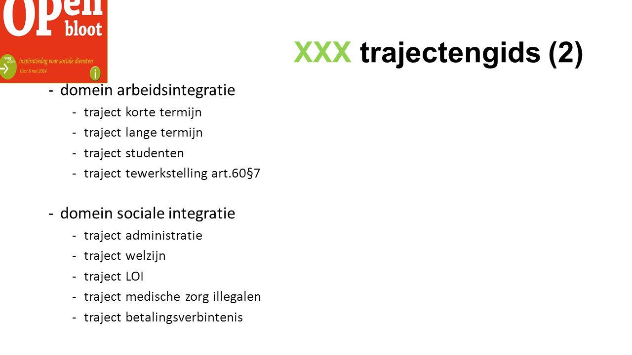 XXX trajectengids (2) domein arbeidsintegratie