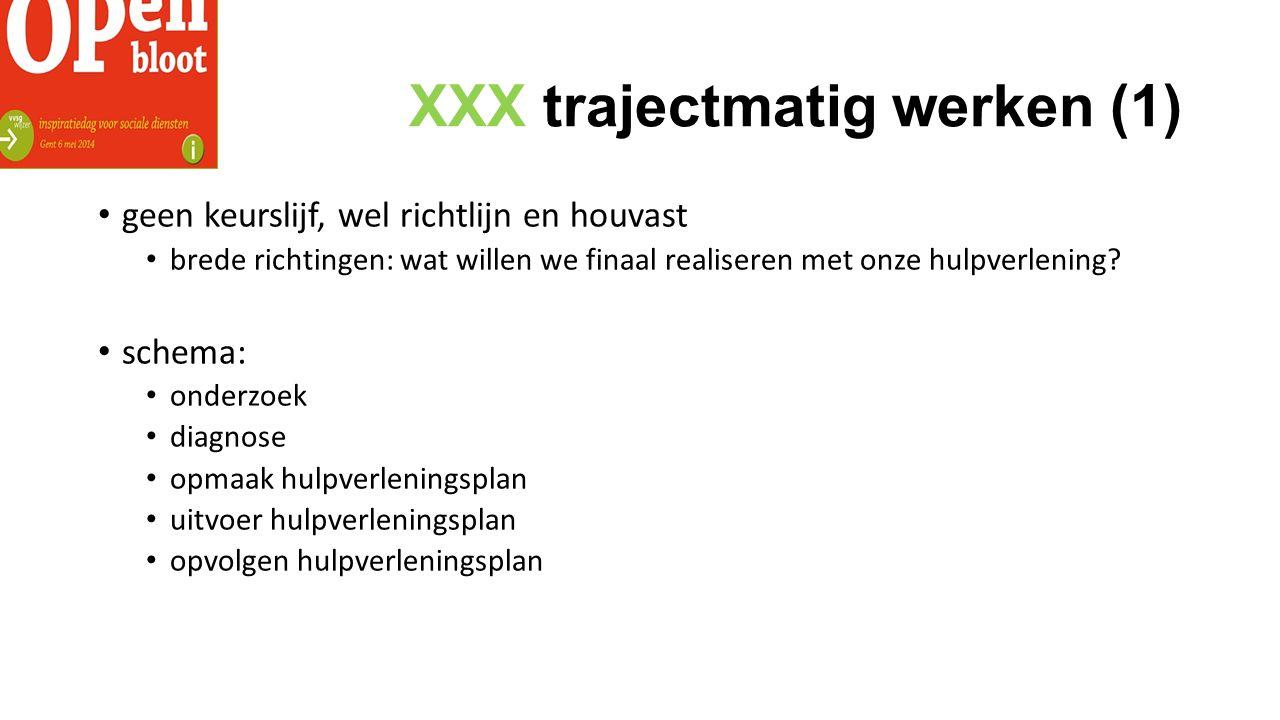 XXX trajectmatig werken (1)