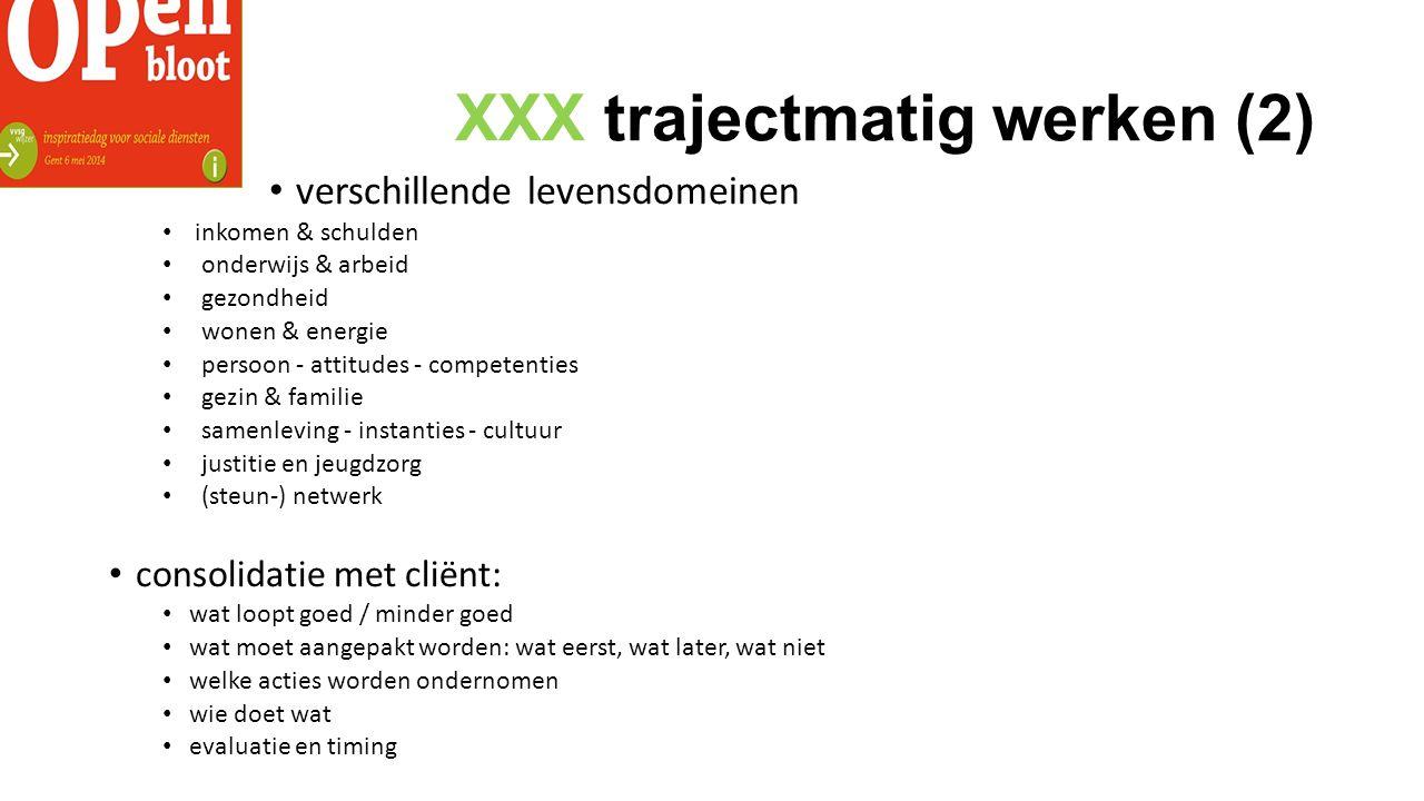 XXX trajectmatig werken (2)