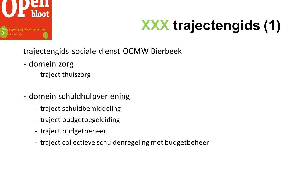 XXX trajectengids (1) trajectengids sociale dienst OCMW Bierbeek