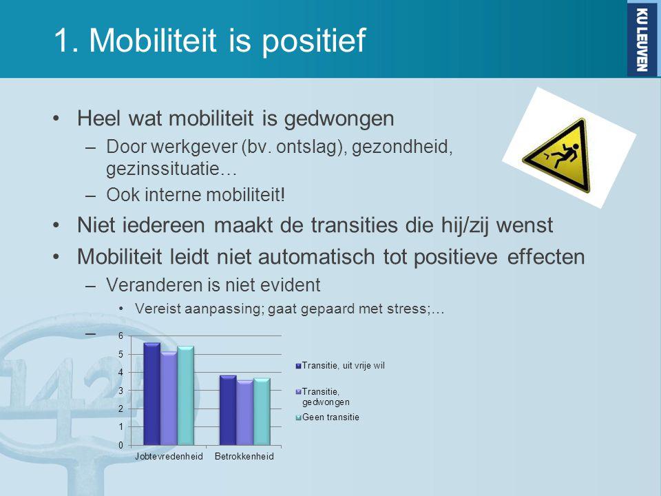 1. Mobiliteit is positief