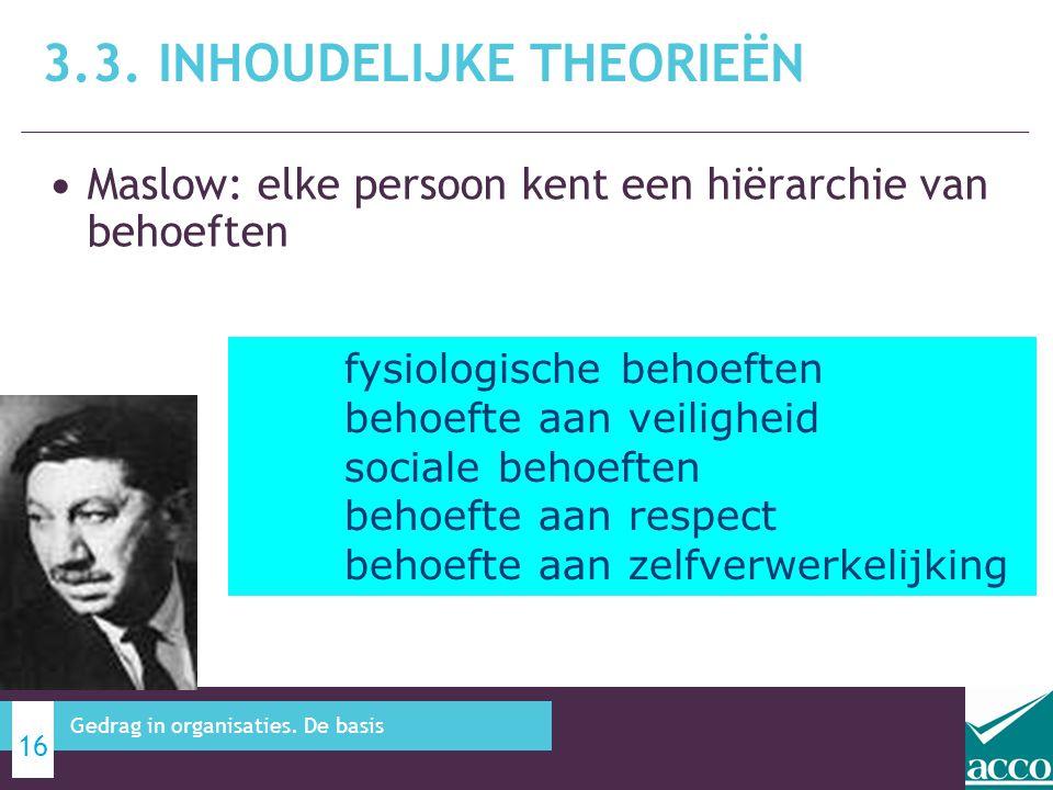 3.3. Inhoudelijke theorieën