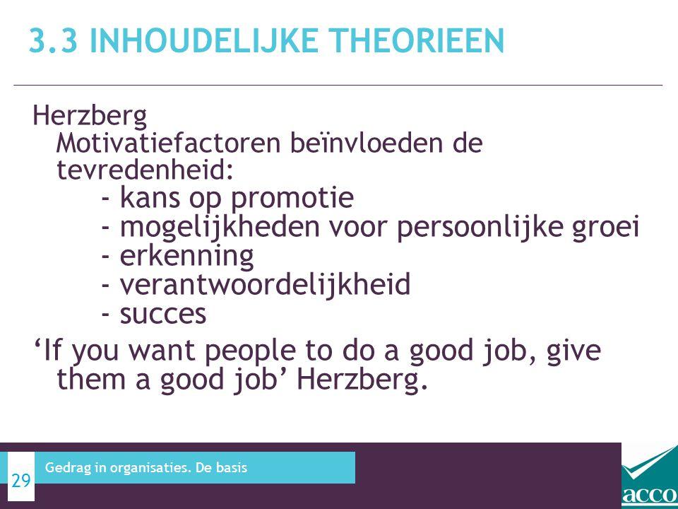 3.3 Inhoudelijke theorieen