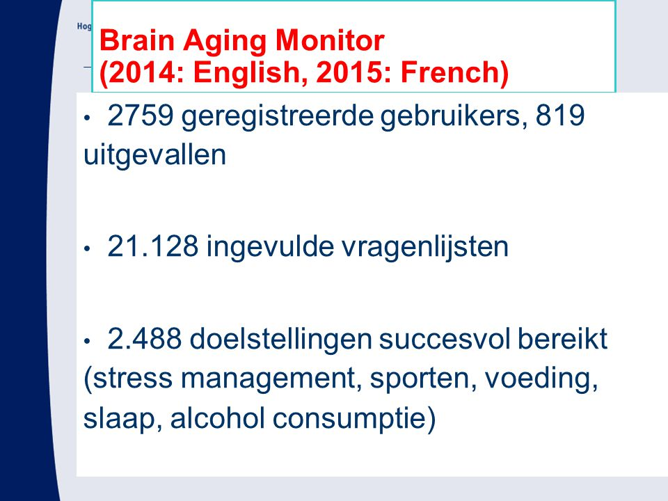 Brain Aging Monitor (2014: English, 2015: French)