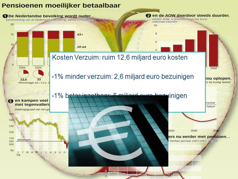 Kosten Verzuim: ruim 12,6 miljard euro kosten