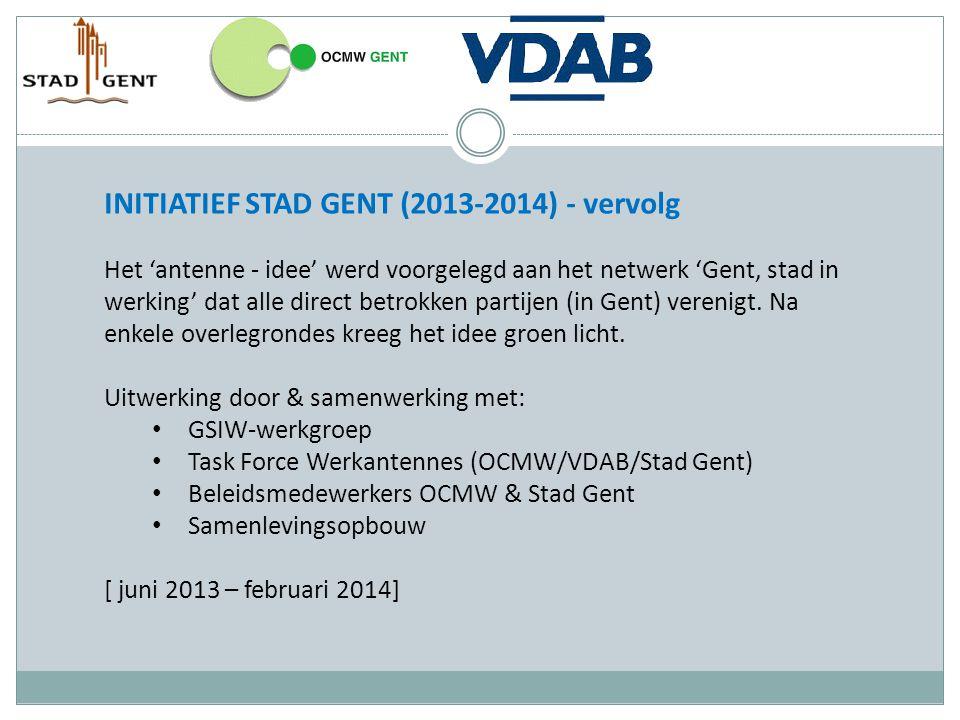 INITIATIEF STAD GENT (2013-2014) - vervolg