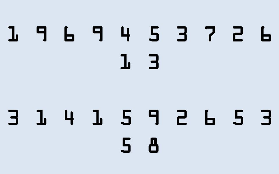 1 9 6 9 4 5 3 7 2 6 1 3 3 1 4 1 5 9 2 6 5 3 5 8