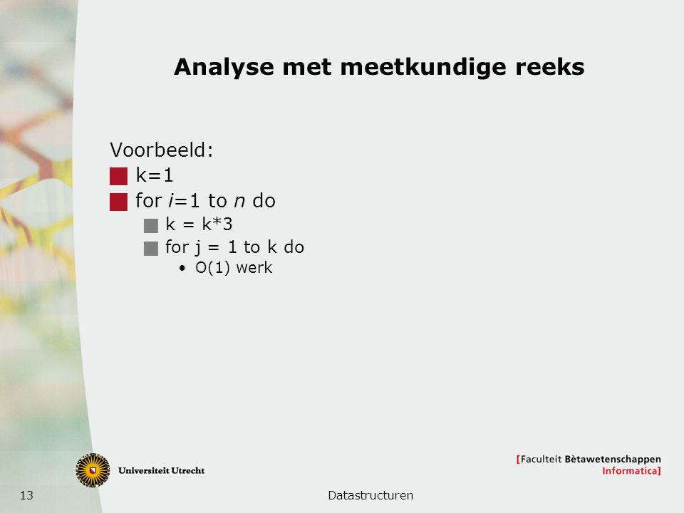 Analyse met meetkundige reeks