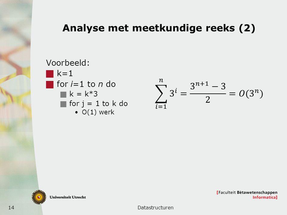 Analyse met meetkundige reeks (2)