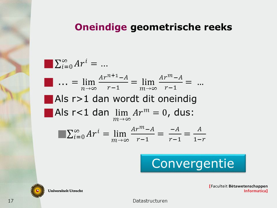 Oneindige geometrische reeks