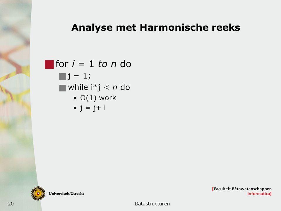 Analyse met Harmonische reeks