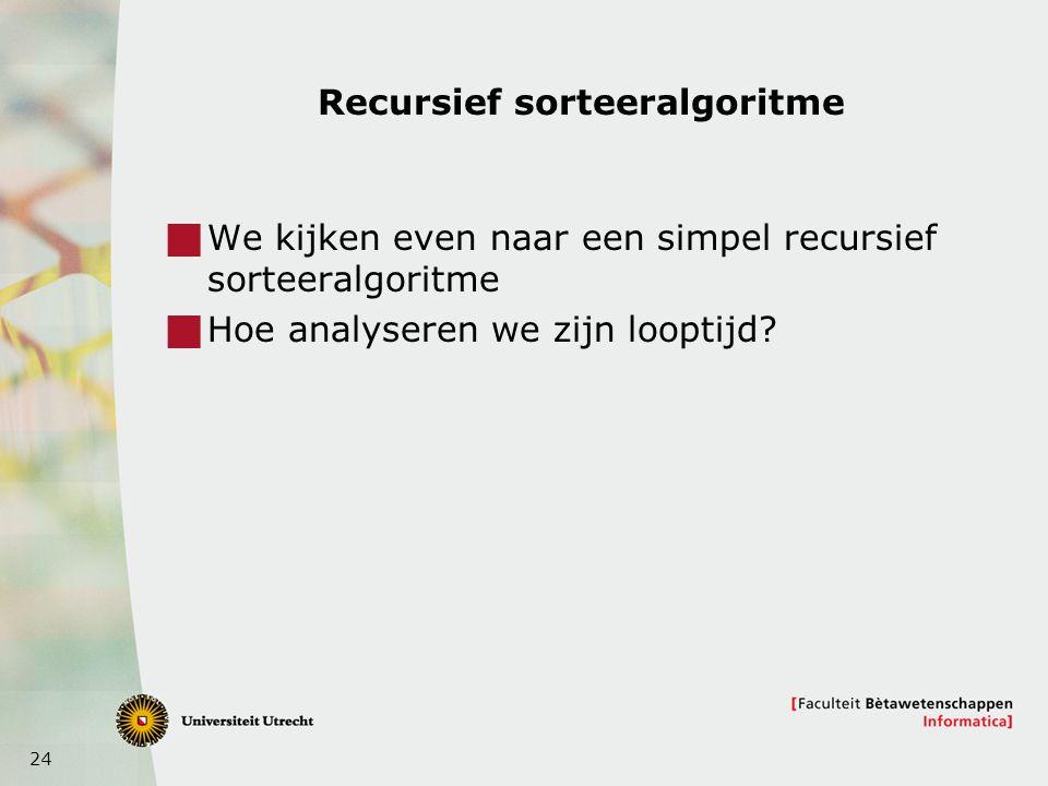 Recursief sorteeralgoritme