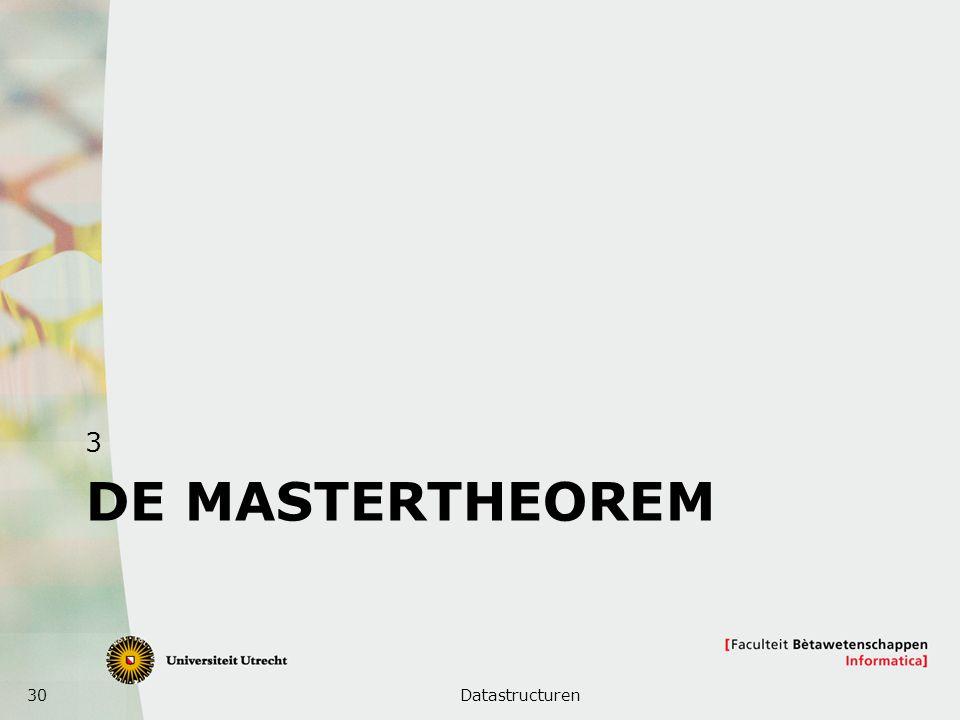 3 De MASTERTHEOREM Datastructuren