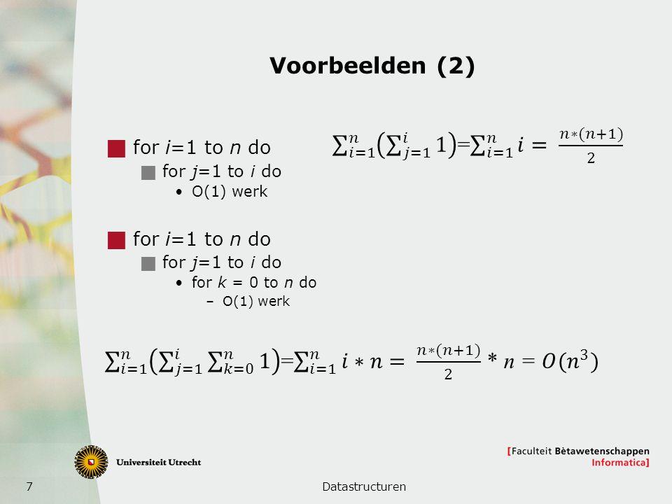 𝑖=1 𝑛 𝑗=1 𝑖 𝑘=0 𝑛 1 = 𝑖=1 𝑛 𝑖∗𝑛= 𝑛∗(𝑛+1) 2 * n = 𝑂(𝑛 3 )