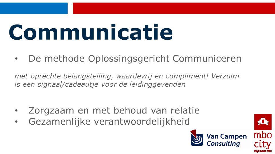 Communicatie De methode Oplossingsgericht Communiceren
