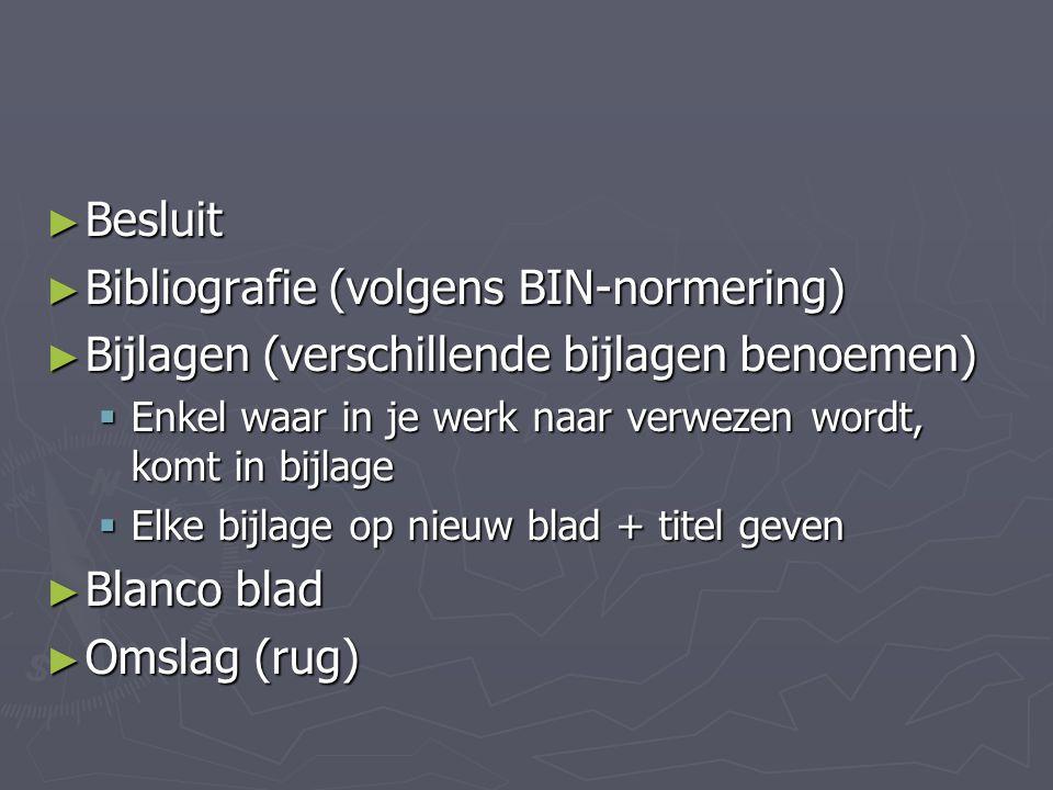 Bibliografie (volgens BIN-normering)