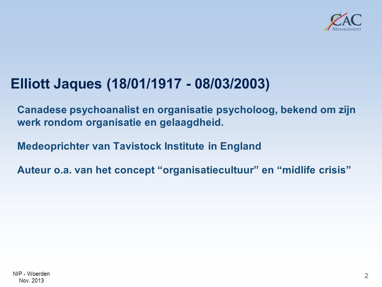 Elliott Jaques (18/01/1917 - 08/03/2003)