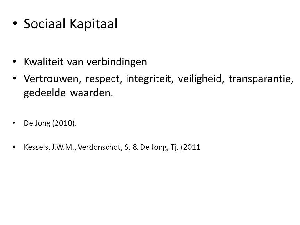 Sociaal Kapitaal Kwaliteit van verbindingen