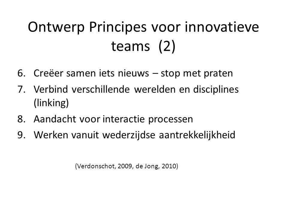 Ontwerp Principes voor innovatieve teams (2)