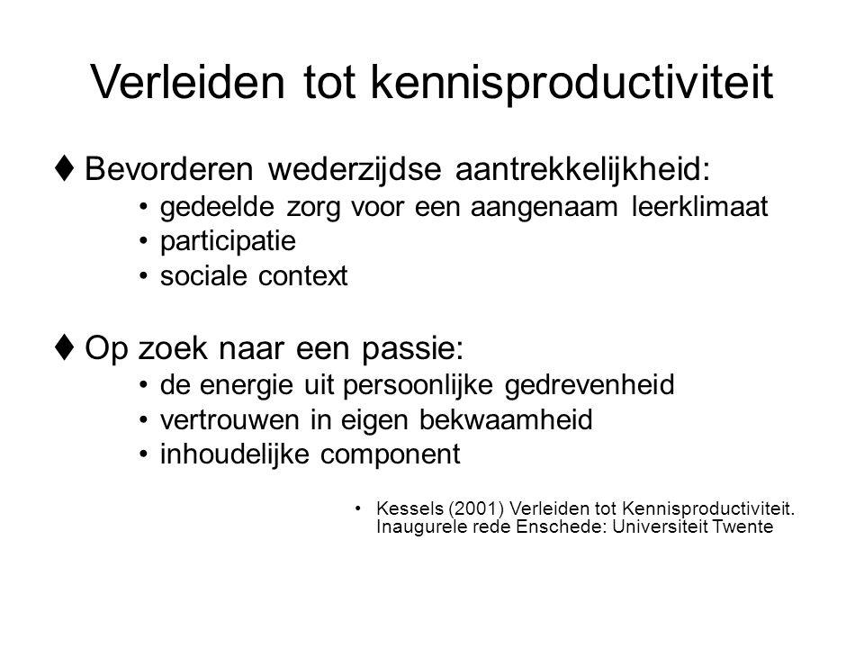 Verleiden tot kennisproductiviteit