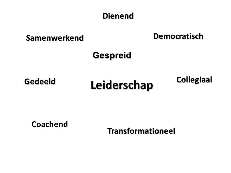 Leiderschap Dienend Democratisch Samenwerkend Gespreid Collegiaal