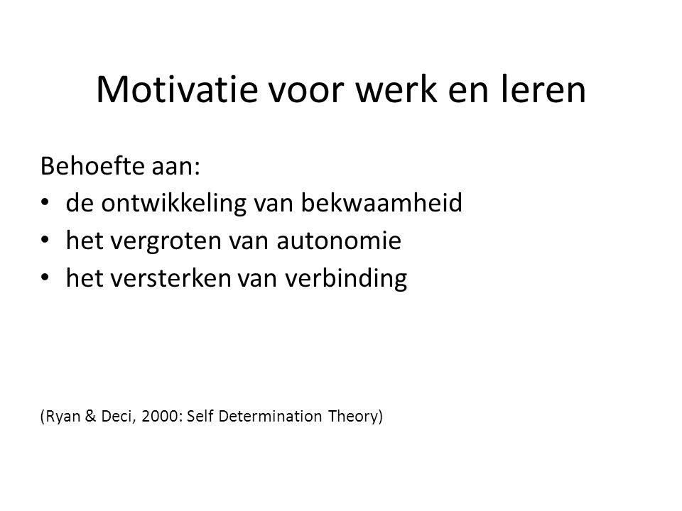 Motivatie voor werk en leren