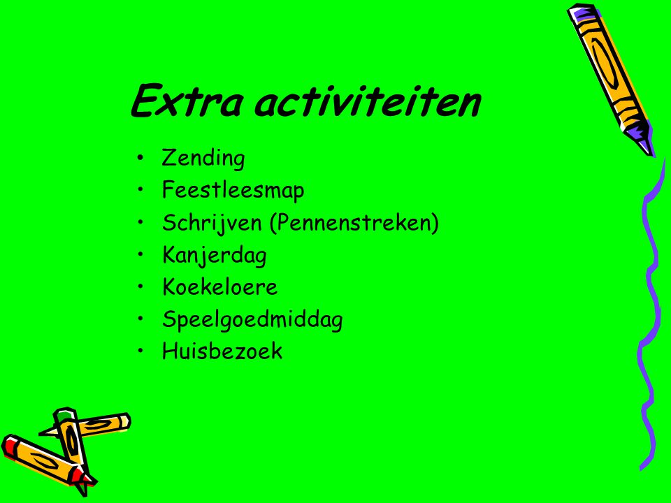Extra activiteiten Zending Feestleesmap Schrijven (Pennenstreken)
