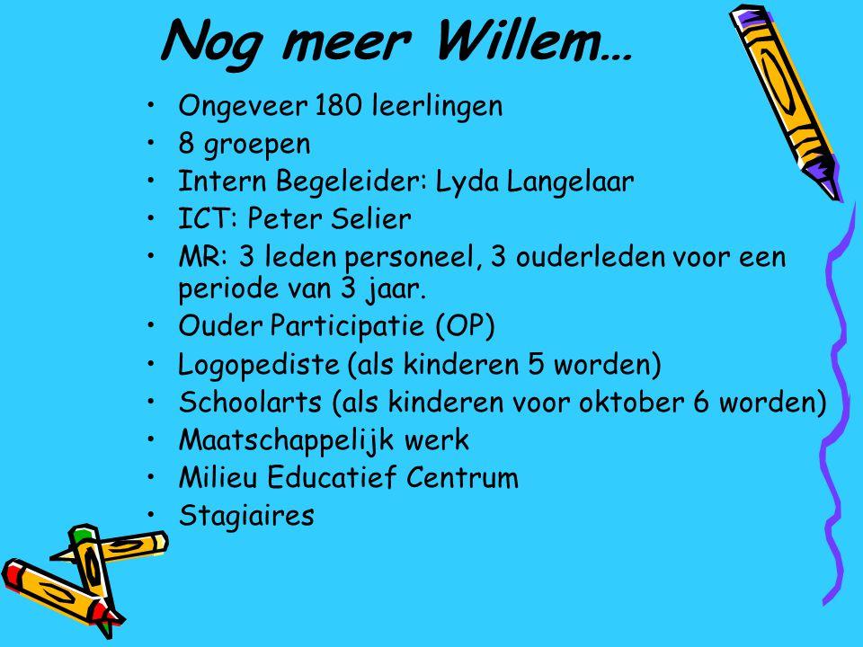 Nog meer Willem… Ongeveer 180 leerlingen 8 groepen