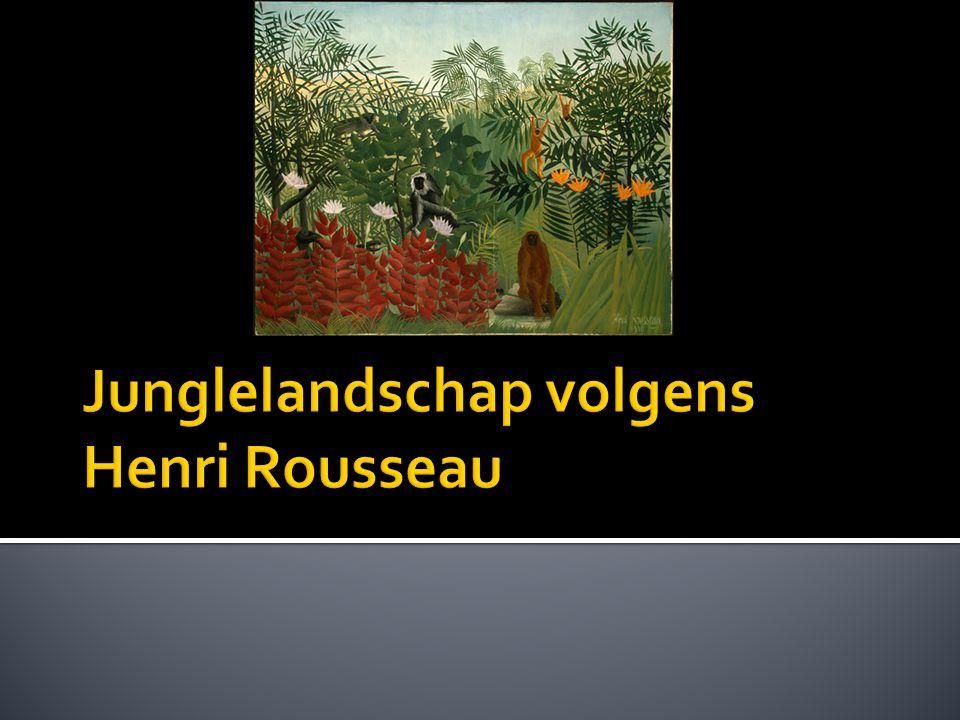 Junglelandschap volgens Henri Rousseau