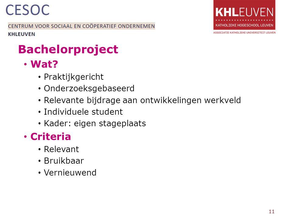 Bachelorproject Wat Criteria Praktijkgericht Onderzoeksgebaseerd