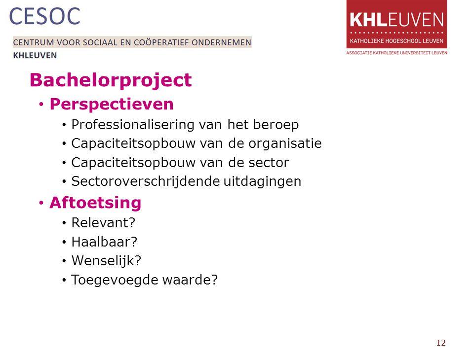 Bachelorproject Perspectieven Aftoetsing