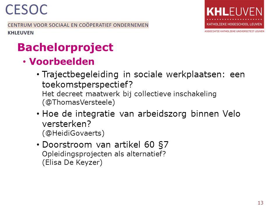 Bachelorproject Voorbeelden