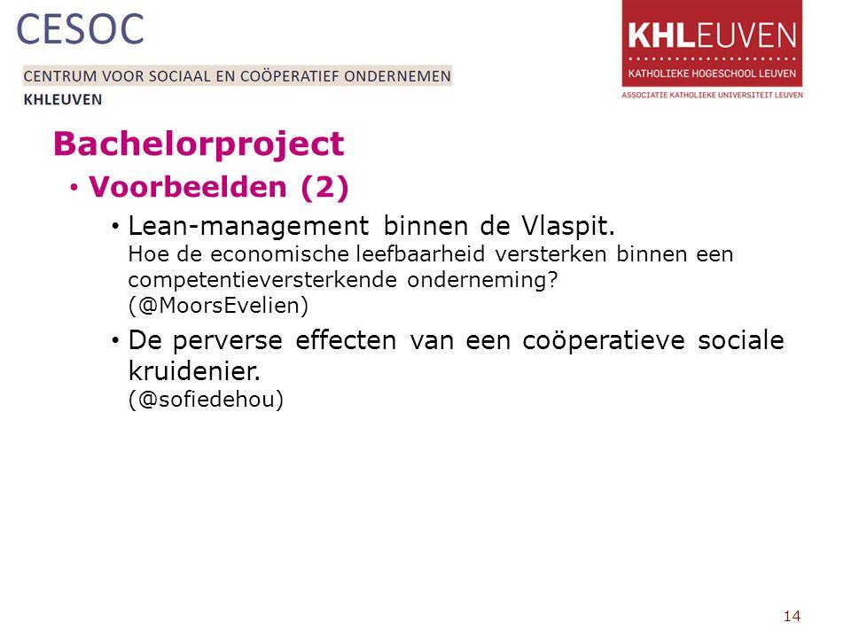 Bachelorproject Voorbeelden (2)