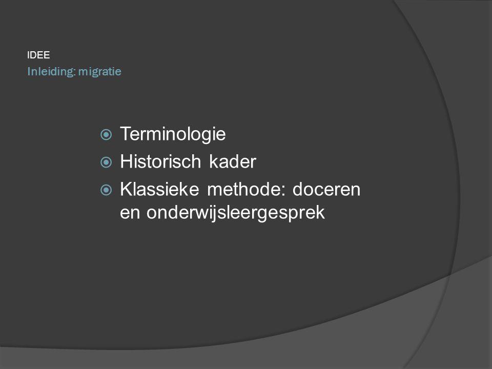 Klassieke methode: doceren en onderwijsleergesprek