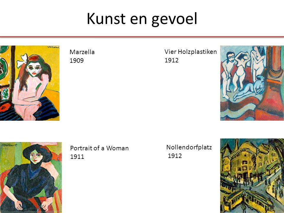 Kunst en gevoel Marzella 1909 Vier Holzplastiken 1912