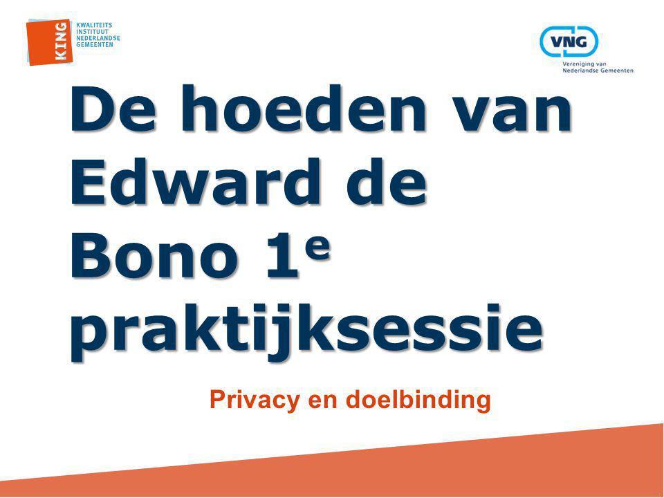 De hoeden van Edward de Bono 1e praktijksessie