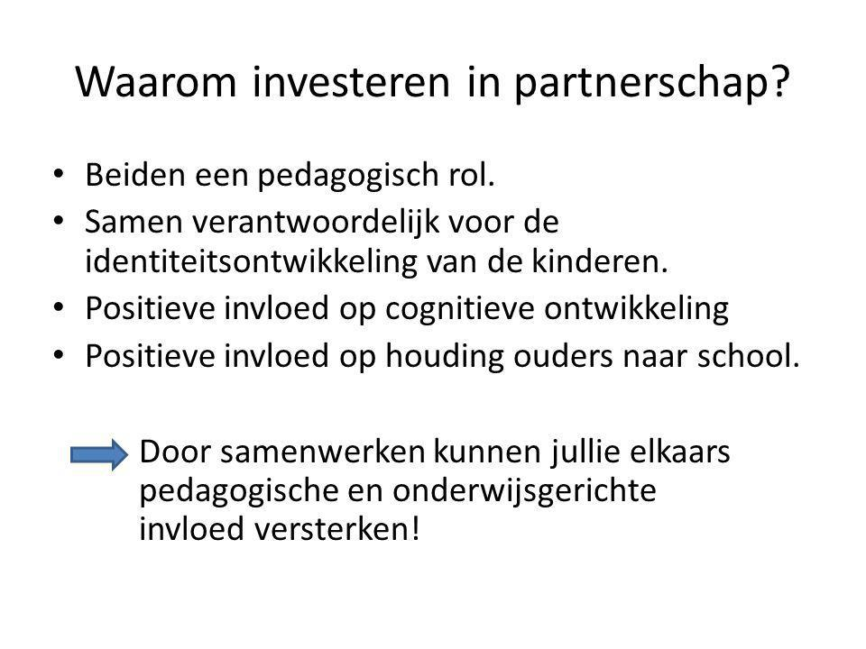 Waarom investeren in partnerschap