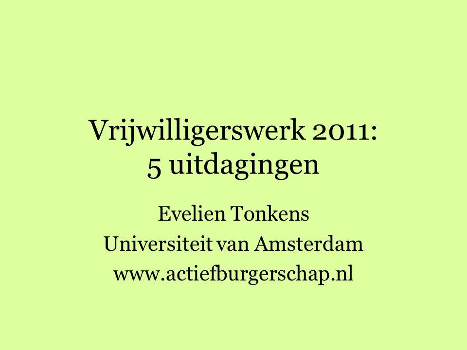 Vrijwilligerswerk 2011: 5 uitdagingen
